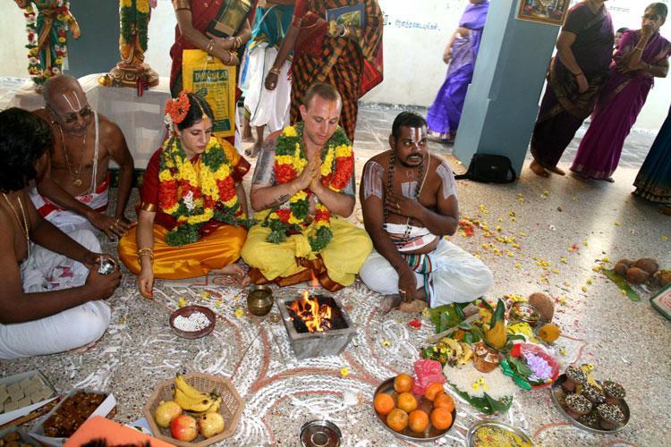 vedische hochzeit zeremonie